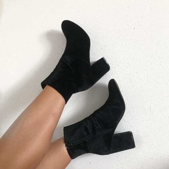 American Eagle Outfitters Shoes - Black Suede High Ankle Booties